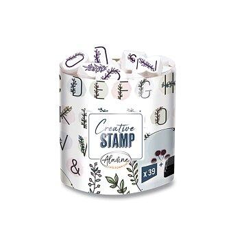 Obrázek produktu Razítka Creative Stamp - Květinová abeceda a věnečky, 39 ks