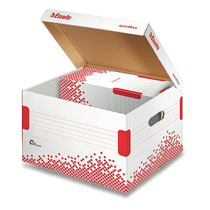 Obrázek produktu Esselte Speedbox - archivační kontejner s víkem - 267 × 263 × 325 mm, vel. M