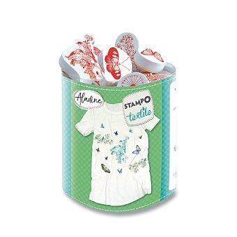 Obrázek produktu Razítka Aladine Stampo Textile - Ptáci a motýli, 15 ks
