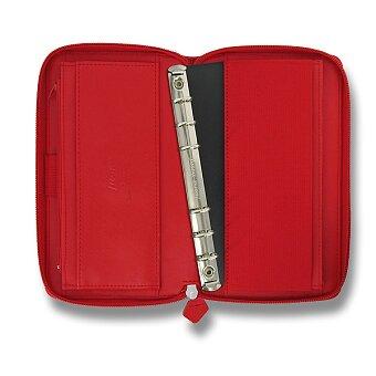 Obrázek produktu Osobní diář Filofax Saffiano Compact Zip A6 - červený