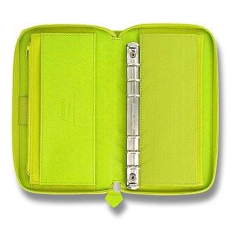 Obrázek produktu Osobní diář Filofax Saffiano Compact Zip A6 - limetkový