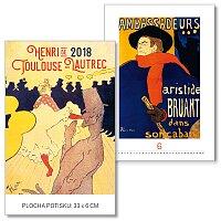 Nástěnný obrázkový kalendář Henri de Toulouse-Lautrec