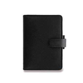 Obrázek produktu Mini diář Filofax Saffiano A8 - černý