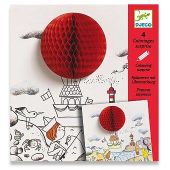 Obrázek produktu Omalovánky Djeco s pop-up ozdobou - Ve vzduchu