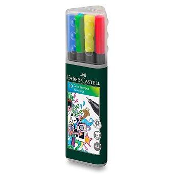 Obrázek produktu Fineliner Faber-Castell Grip - 10 barev v plastovém boxu