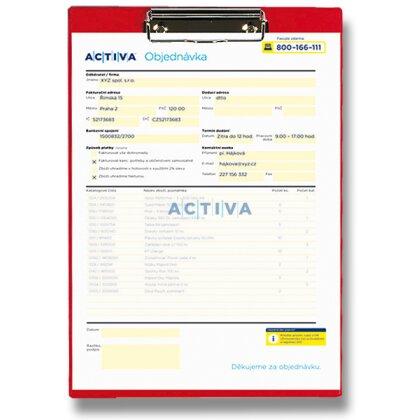 Obrázek produktu PP Titan - desky s klipem - červené
