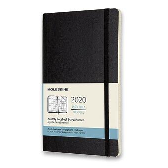 Obrázek produktu Diář Moleskine 2020 - měkké desky - L, měsíční, černý