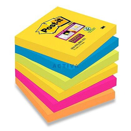 Obrázok produktu 3M Post-it SuperSticky - samolepiace bločky - 76 x 76 mm, 6 x 90 l., Rio de Janeiro