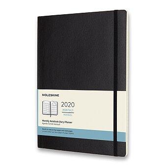 Obrázek produktu Diář Moleskine 2020 - měkké desky - XL, měsíční, černý