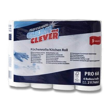 Product image Clean and Clever - Paper kitchen cloths - 3-lply