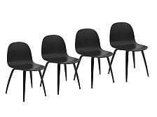Set 4 ks židlí Gubi 2D Dining Chair Wood OUTLET