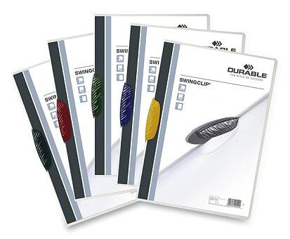 Obrázek produktu Plastový rychlovazač Durable Swingclip - výběr barevných klipů