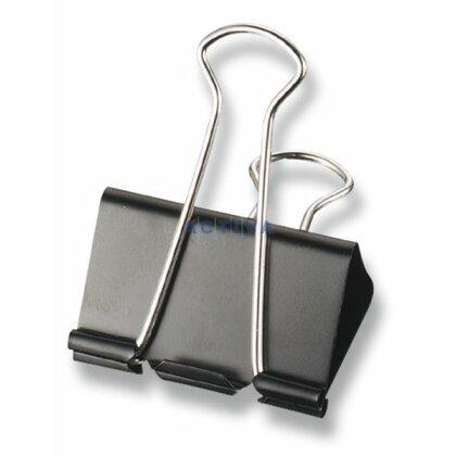 Obrázok produktu Binder Clips - kancelárske klipy - 15 mm, 12 ks, kovové, čierne