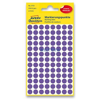 Obrázek produktu Avery Zweckform - kulaté etikety - průměr 8 mm, 416 etiket, fialové