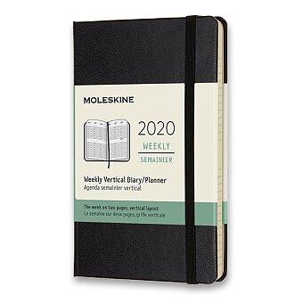Obrázek produktu Diář Moleskine 2020 - tvrdé desky - S, týdenní, vertikální, černý