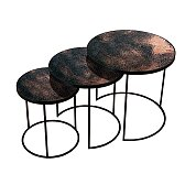 Kulaté stolky Notre Monde Nesting Side Table set 3ks