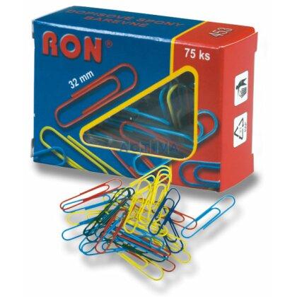 Obrázek produktu RON - barevné sponky - 32 mm, 75 ks
