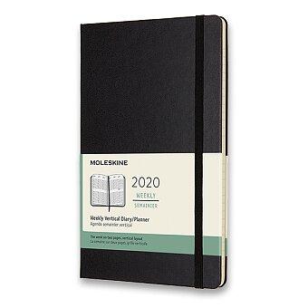 Obrázek produktu Diář Moleskine 2020 - tvrdé desky - L, týdenní, vertikální, černý