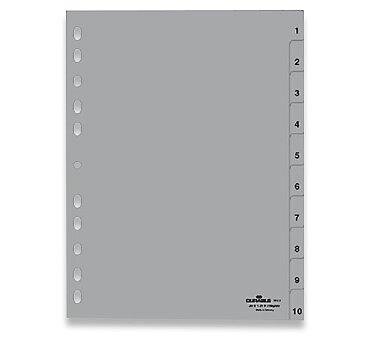 Obrázek produktu Polypropylénový rozlišovač Durable - A4, šedý, 1-10 (10 listů)