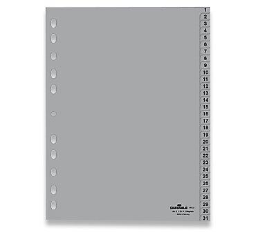 Obrázek produktu Polypropylénový rozlišovač Durable - A4, šedý, 1-31, 31 listů