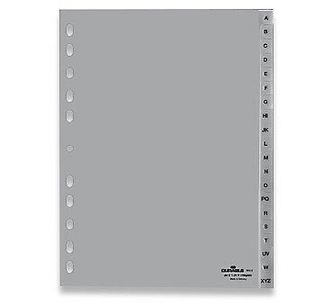 Obrázek produktu Polypropylénový rozlišovač Durable - A4, šedý, A-Z, 20 listů