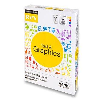 Obrázek produktu Kancelářský  papír Rey Text & Graphics - A4, 80 g, 5 x 500 listů