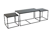 Stolky Notre Monde Rectangle Nesting Side Table set 3ks