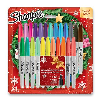 Obrázek produktu Permanentní popisovač Sharpie LE - sada 24 barev