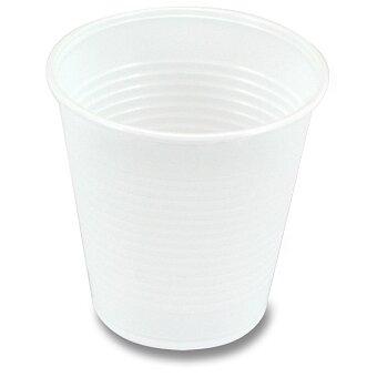 Obrázek produktu Plastové bílé kelímky - objem 0,15 l, 100 ks