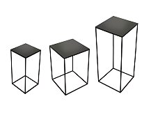 Stolek Notre Monde Charcoal Square Side Table
