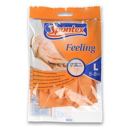 Obrázek produktu Spontex Feeling - úklidové rukavice, velikost L