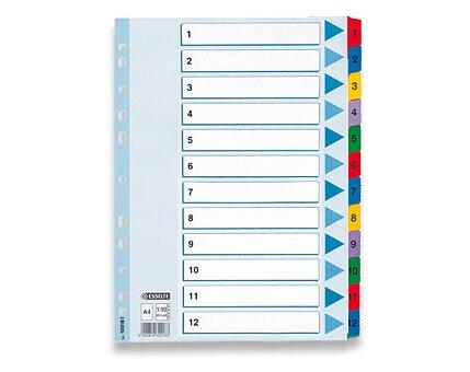 Obrázek produktu Papírový rozlišovač Esselte Mylar - A4, barevný, 1-12, 12 listů