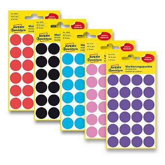 Obrázek produktu Kulaté etikety Avery Zweckform - průměr 18 mm, 96 ks, výběr barev