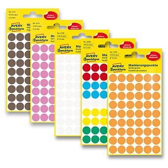 Obrázek produktu Kulaté etikety Avery Zweckform - průměr 12 mm, 270 ks, výběr barev