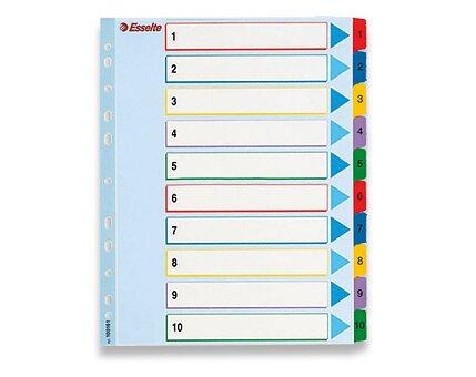 Obrázek produktu Papírový rozlišovač Esselte Project Maxi - A4 +, barevný, 1-10 (10 listů)