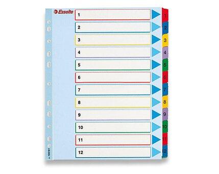 Obrázek produktu Papírový rozlišovač Esselte Project Maxi - A4 +, barevný, 1-12 (12 listů)