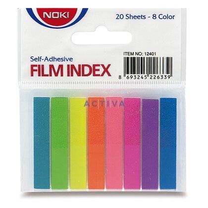 Obrázek produktu Noki Film Index - samolepicí záložky - 46 × 8 mm, 8 barev × 20 ks