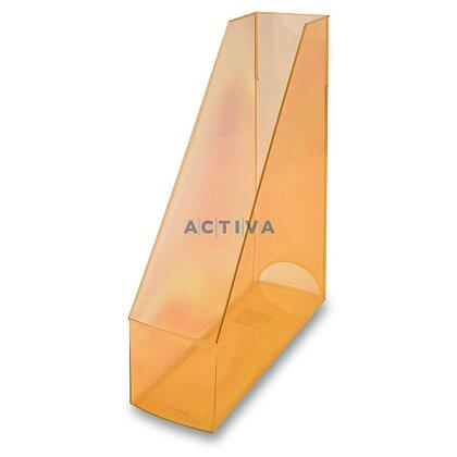 Obrázek produktu Helit Economy Transparent - plastový stojan na katalogy - oranžový