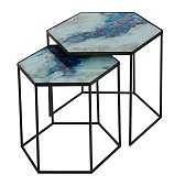 Stolky Notre Monde Hexagon Side Table set 2ks