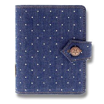 Obrázek produktu Kapesní diář Filofax Denim Dots A7 - modrý