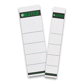 Obrázek produktu Kartonové štítky pro pákový pořadač Leitz - 10 ks, pro hřbet 50 nebo 80 mm