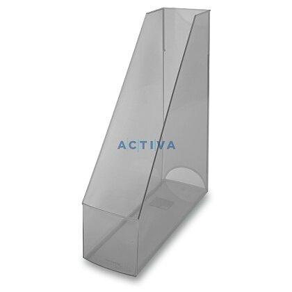 Obrázek produktu Helit Economy Transparent - plastový  stojan na katalogy - šedý