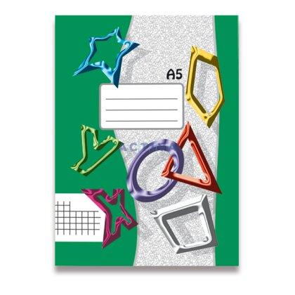 Obrázok produktu Zošit recyklovaný 545 - A5, 40 l., štvorčekový