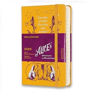 Diář Moleskine 2020 Alice In Wonderland, tvrdé desky