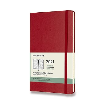 Obrázek produktu Diář Moleskine 2021 - tvrdé desky - L, horizontální týdenní, výběr barev