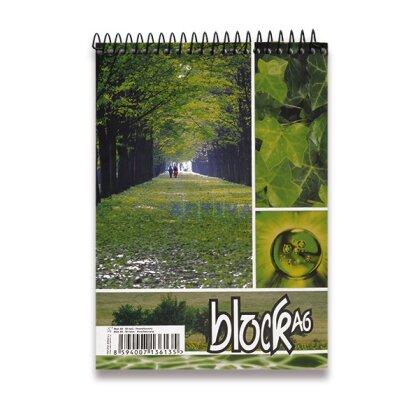 Obrázok produktu Krúžkový blok - A6, 50 l., linajkový