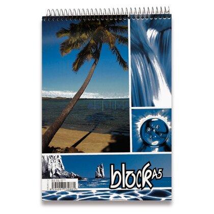 Obrázok produktu Krúžkový blok - A5, 50 l., štvorčekový