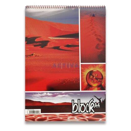 Obrázok produktu Krúžkový blok - A4, 50 l., štvorčekový
