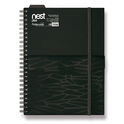 Obrázek produktu Foldermate NEST - spirálový blok s kapsou - A5, 80 listů, černý