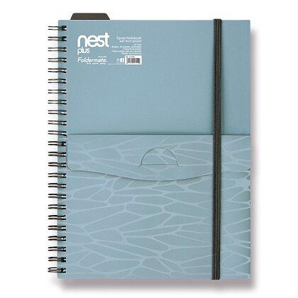 Obrázek produktu Foldermate NEST - spirálový blok s kapsou - A5, 80 listů, modrý
